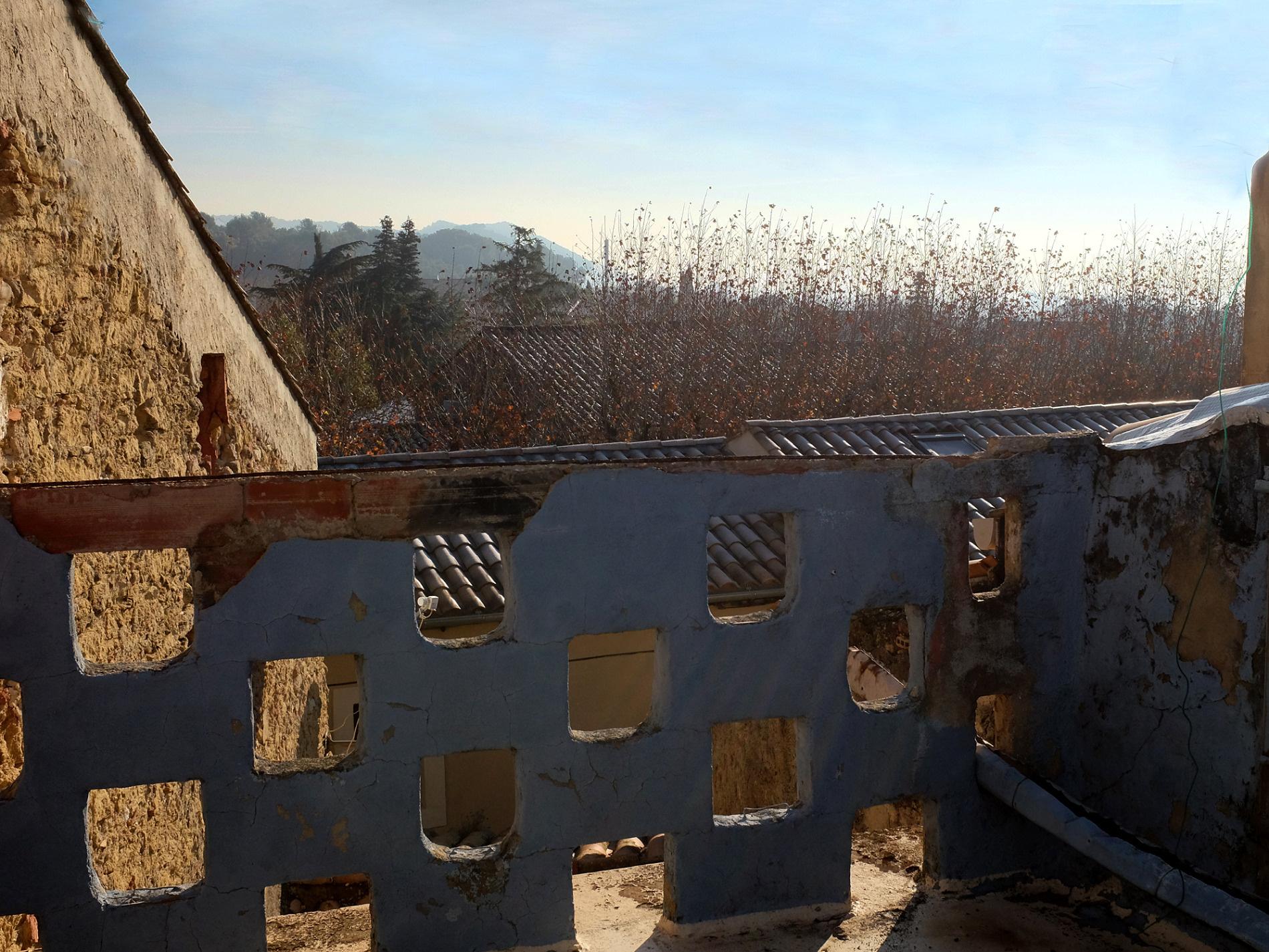 Terrasse pouvant être agrandie